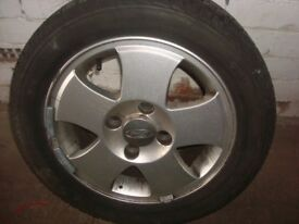 ford fiesta alloy wheel and tyre