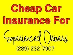 Cheap Car Insurance For Experienced Drivers (289) 232-7907