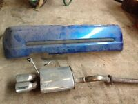Renault Clio Sport Back Bumper and Custom Exhaust