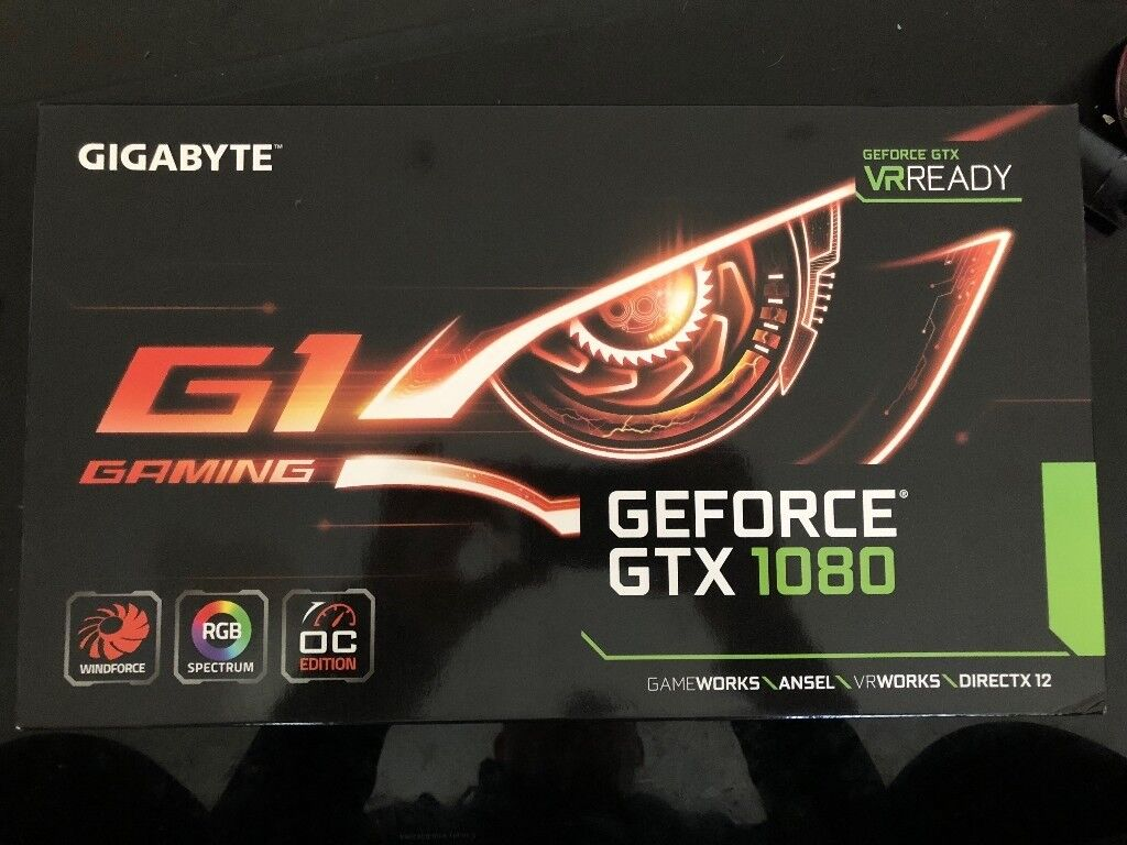 Nvidia Gigabyte GeForce GTX 1080 G1 Gaming 8GB Graphic Card NEW BOX SEALED    in Leicester, Leicestershire   Gumtree