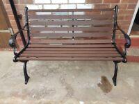 Refurbished Cast Iron Garden Bench
