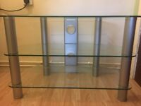 Toughened glass tv stand