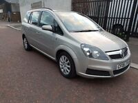 2006 VAUXHALL ZAFIRA 1.6 CLUB 7 SEATER 5DR Silver AC 78k