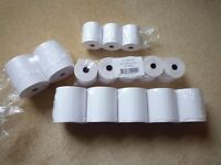 LOT OF 15 SMALL 57 MM AND LARGE 80 MM PRINTER ROLLS NEW