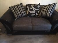 Black and grey 2 seater excellent condition