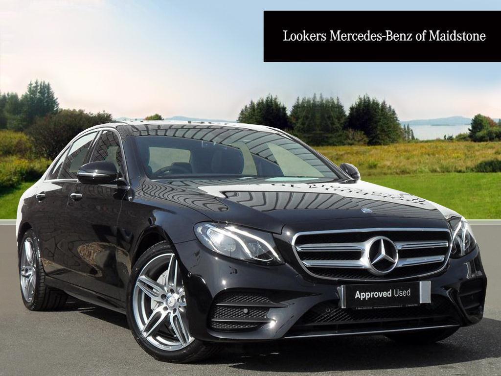 Mercedes benz e class e 220 d amg line premium black for Mercedes benz e350 black