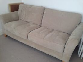 3 piece sofa, 3, 2 and single seater chair, pouffe, excellent condition, delivery