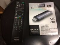 Sony UWA-BR100 USB Wireless Lan Adapter for Bravia TV + Original Sony Bravia Remote