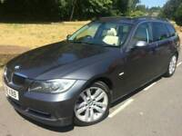 2008 BMW 335D SE TOURING**AUTO-F1-PADDLESHIFTS**FSH*LEATHER*PAN-ROOF*SAT-NAV*XENONS*P/SENS#530D#AUDI