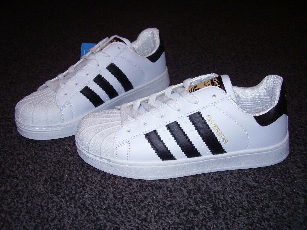 the latest a8f2e 04274 ... czech adidas superstar trainers 3 stripe size 5 1 2 brand new 401e6  f8ba2
