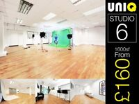 1600sf Studio Hire Photo Photography Model Casting Music Video Green Screen Film London Canary Wharf