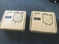 Two IKEA ORGEL wall lamps brand new, boxed