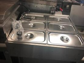Commercial dry Bain Marie catering restaurant hotels pubs cafe equipment