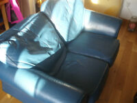 Two seater Leather sofa, well used but still has plenty of life left in it!