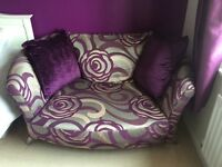 DFS Nikita Cuddler Sofa - purple swirl
