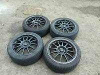 """4x108 16"""" team dynamics pro race wheels and tyres"""