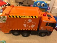 Kids toy recycling truck car