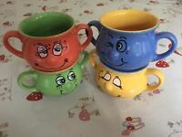 Face soup mugs