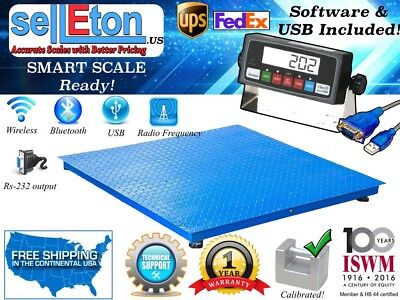Selleton Floor Scale Pallet Scale With Software Usb 2500 Lb .5 Lb 40 X 40