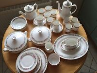 Bone china dinner service with teapot and cups and saucers and Coffee pot with cups and saucers
