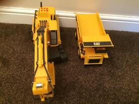 Kids CAT digger and truck toys