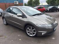 2006/56 HONDA CIVIC I-VTECH EX 1.8 PETROL AUTOMATIC 5dr # SAT NAV # GENUINE LOW MILES # CAT D