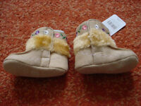 Baby girls fur topped winter boots (mothercare) 6-12months new
