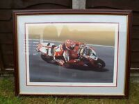 """CARL FOGARTY ~ 'KING CARL'"" WSB Champion Framed Print"
