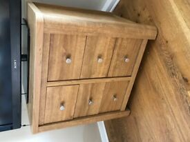 NEXT Hudson tv drawer unit sideboard OAK and laminate