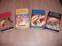 4 HARRY POTTER FIRST EDITION HARDBACK BOOKS