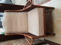 Cane conservatory/garden furniture