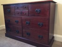 Mahogany Multi drawer sideboard EXCELLENT CONDITION