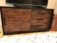 Media Console - 137cm long Reclaimed Wood with Storage