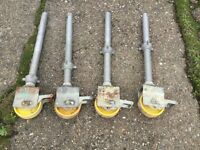 Boss Youngman scaffold tower wheels & legs full set of four