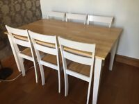 6 seater table and chairs in great condition, almost brand new