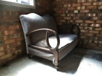 Art Deco Antique Begere Cane Sofa Settee for Restoration