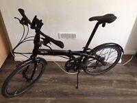 Tern Node D16 Folding Bicycle with ABUS lock & DAHON PostPump Saddle