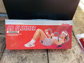 FITNESS SLIMMER/ROLLER FOR ABS, 'DALPHS' DURABLE. CUSHIONED HEADREST AND FOAM COVERED HANDLE. BNIB