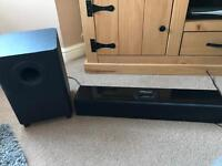 Orbitsound sound bar with iPod dock, remote, leads
