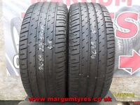 AC.89 2X 225/55/15 92V 1X5MM 1X4-5MM TREAD MICHELIN PILOT HX - USED TYRES