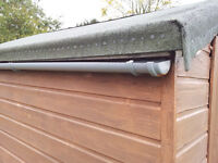 Shed Guttering. Ideal for Allotment to collect water in a Butt. 7 feet long.