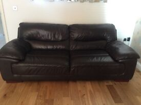 LEATHER DFS SOFAS