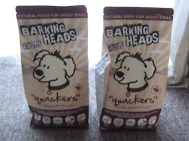 BARKING HEADS QUACKERS DRY DOG BISCUISTS 2 X 2KG BAGS BRAND NEW
