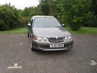 rover MG ZS + grey paintwork, interior mint condition grey leather and red checkered fabric,