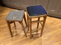 Vintage kitchen stools for upcycling
