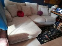 NEXT grey fabric corner L shape sofa