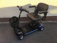 Pride Go-Go Elite Traveller 4 Wheel Mobility Scooter – New Batteries