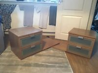 Bedside cabinets, matching pair (IKEA)
