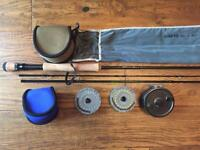 Pike/saltwater fly fishing rod/reel/lines