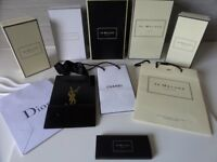 EMPTY GIFT BOXES & BAGS, JO MALONE, R LAUREN,DIOR,YSL,LADUREE ETC
